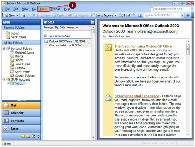 Outlook 2003 :: ABC Communications
